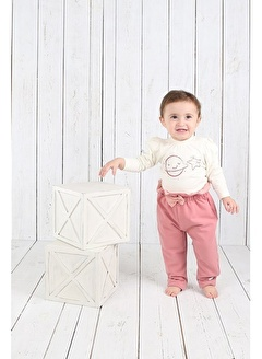 Nila Kids Pembe Rengi Kız Bebek Organik Pantolon NK04005P (3 AY - 5 YAş)